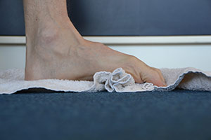 strengthen foot towel